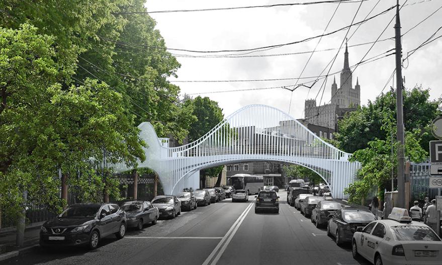 Новый мост через Большую Грузинскую улицу. Фото mos.ru