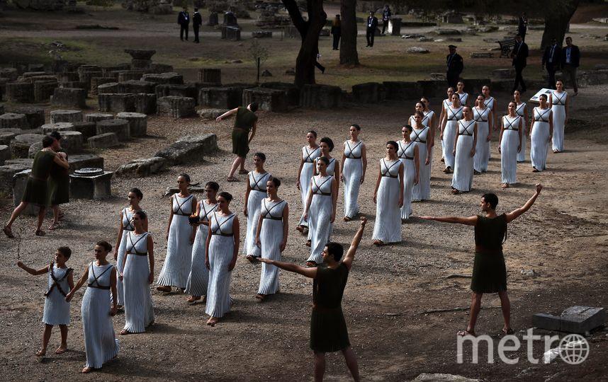 Огонь Зимней Олимпиады в Пхенчхане зажгли в Древней Олимпии. Фото AFP