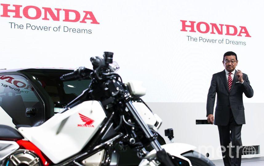 Автосалон в Токио-2017. Электромотоцикл Honda Riding Assist-e. Фото Getty