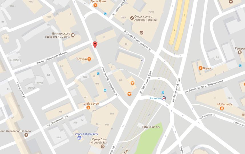 Нижняя Радищевская улица в Москве. Фото www.google.ru/maps