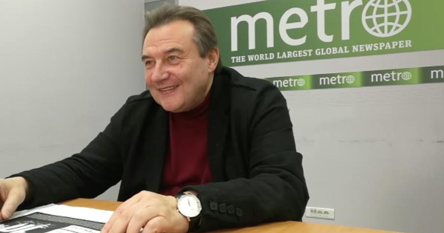 """Алексей Учитель в редакции Metro-Москва. Фото """"Metro"""""""