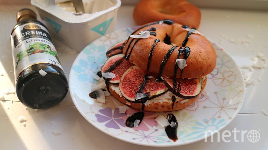 """Бутерброды могут быть сладкими! Мой идеально подходит на завтрак - Бейгл """" Инжирное наслаждение"""". Фото Ступаченко Яна"""