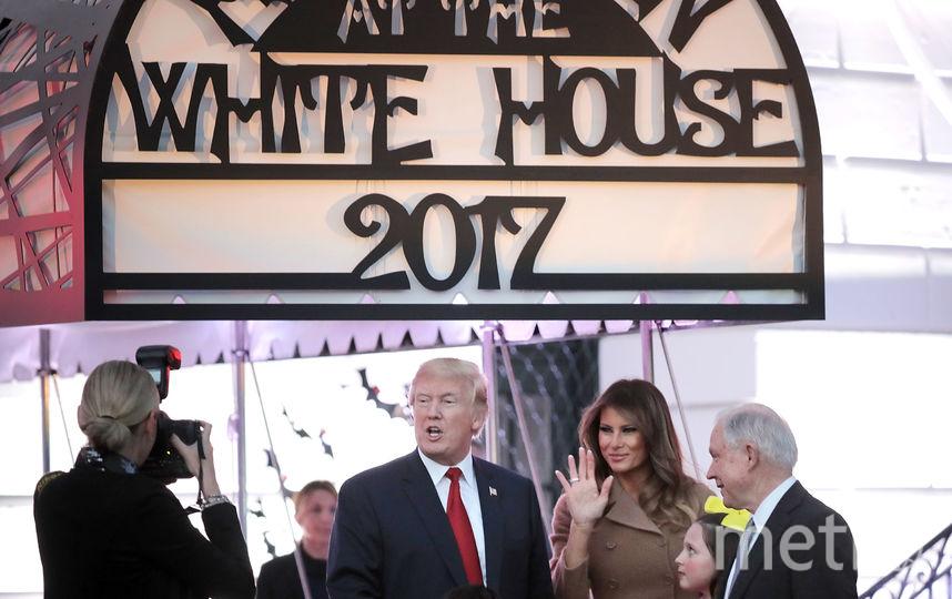 Дональд Трамп и Мелания отметили Хэллоуин. Фото Getty