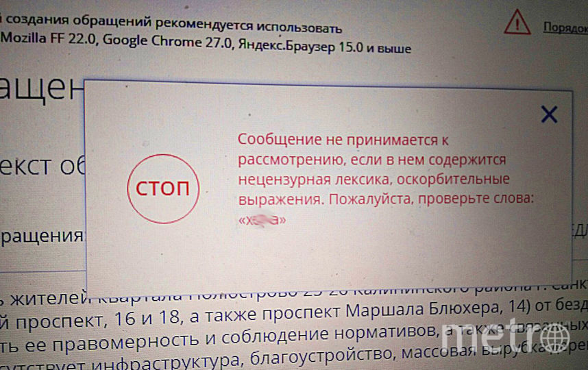 За Блюхера извинились. Фото vk.com/peterburg_krasiv
