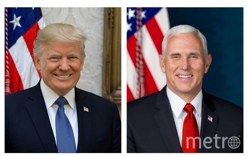 Официальные портреты президента США Дональда Трампа и вице-президента США Майка Пенса. Фото Белый дом