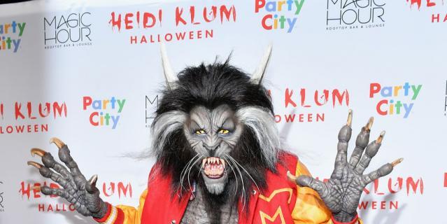 Хэллоуин у Хайди Клум. Это сама хозяйка вечеринки.