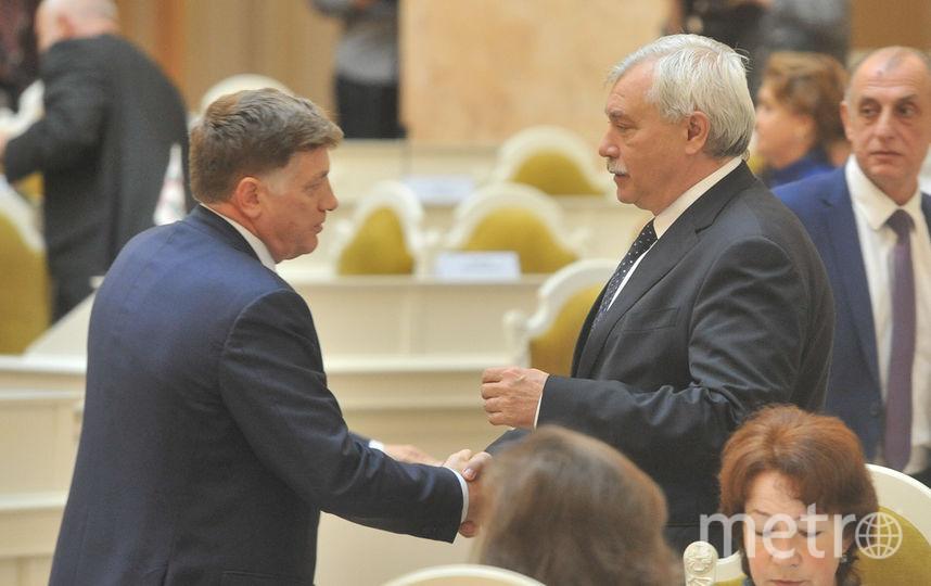 Полтавченко представил бюджет Петербурга в Заксе.