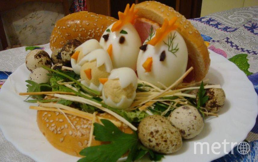 """""""Семейное гнёздышко"""" из бутербродных колец для большой семьи. Фото Татьяна Чекмарева"""