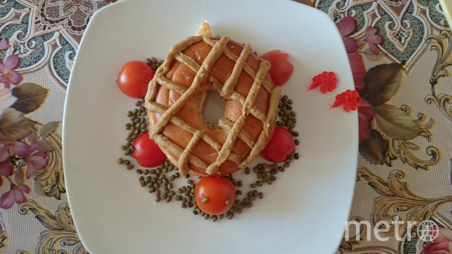 "Морской бутерброд ""черепаха"" с креветками.  Екатерина Рысакова."