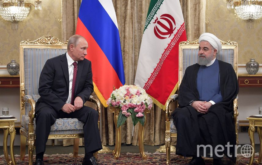 Президент РФ Владимир Путин прибыл в Тегеран, где запланированы трехсторонние переговоры на высшем уровне Азербайджан-Иран-Россия. Фото AFP