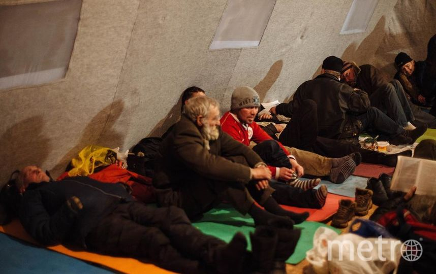 Пункт обогрева. Фото Мария Бондаренко homeless.ru