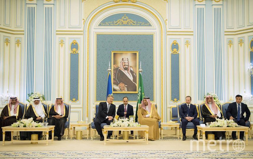 Встреча Петра Порошенко и Салмана бин Абдулазаза Аль Сауда. Фото AFP