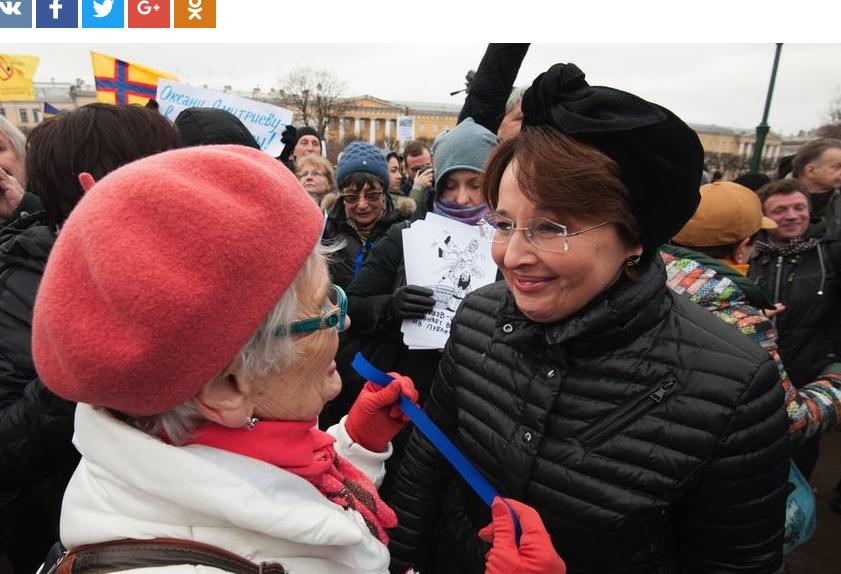 Петербургский депутат Оксана Дмитриева готова участвовать ввыборах президента