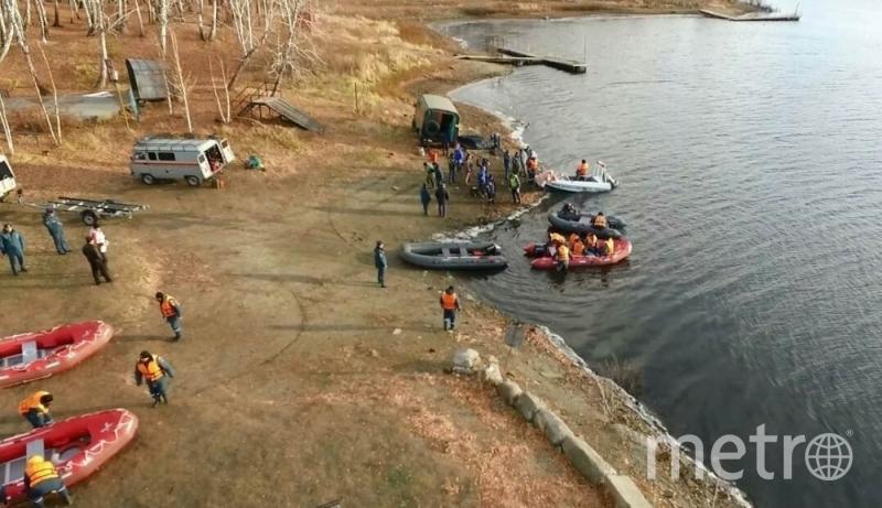 Поисково-спасательные работы на Аргазинском водохранилище. Фото 74.mchs.gov.ru
