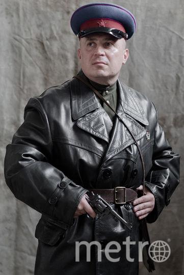 Научный сотрудник Денис Шустов в образе сотрудника НКВД. Фото предоставлены Александром Барановым.