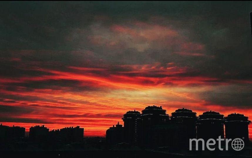 Такой был рассвет в Петербурге 3 ноября. Фото https://www.instagram.com/mari_komi/