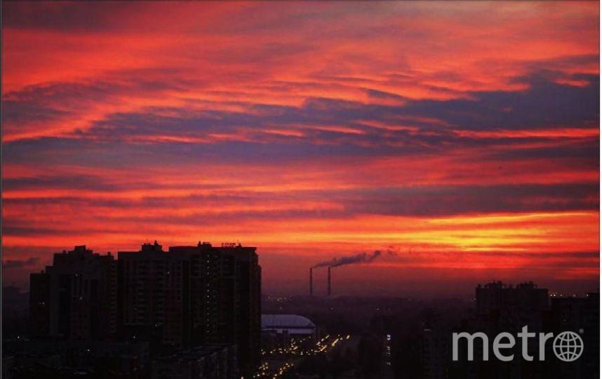 Такой был рассвет в Петербурге 3 ноября. Фото https://www.instagram.com/pilotspb/