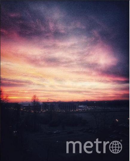 Такой был рассвет в Петербурге 3 ноября. Фото Instagram