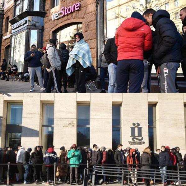 Шел 2017 год люди в России стояли в очередях за...Первые за IPhone X за 90000 ,вторые за кроссовками от Oxxxymirona за 8000! Фото Instagram _denis_86