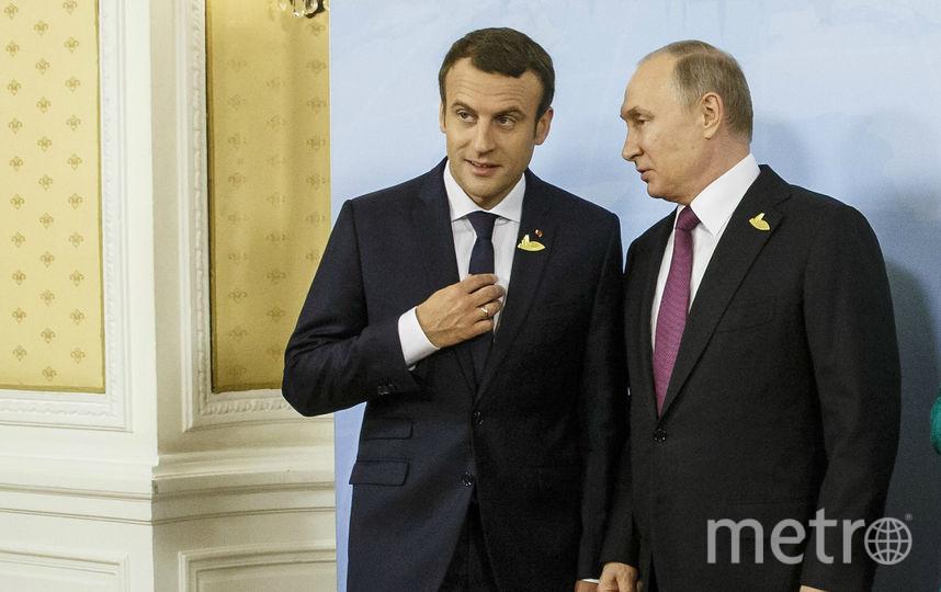 Путин и Макрон летом 2017-го года7. Фото Getty