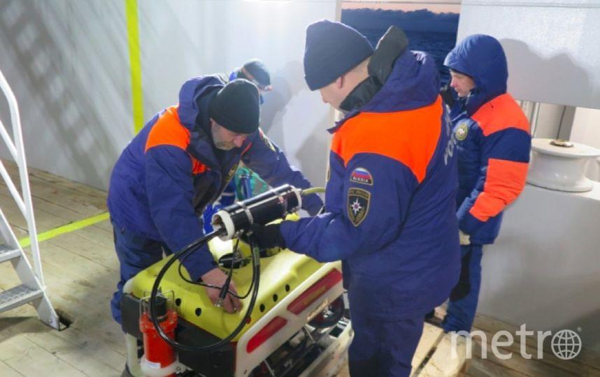 Спасатели МЧС России обследуют дно моря на Шпицбергене в Норвегии. Фото МЧС РФ