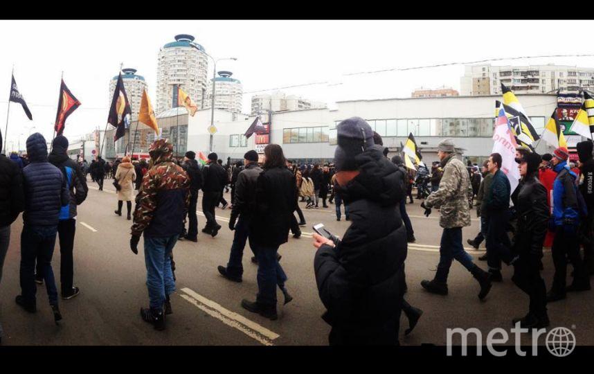 """""""Русский марш"""" в Москве. Фото instagram.com/gleborg_ldpr"""