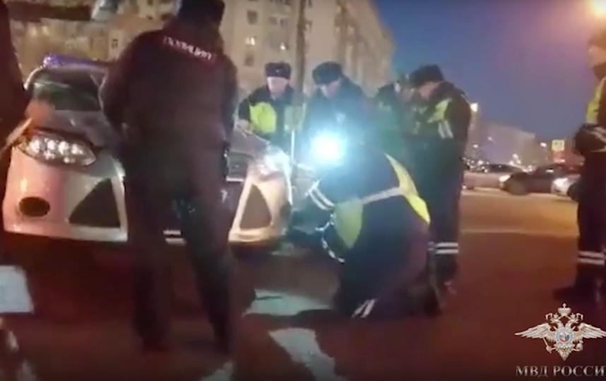 Скриншот видео МВД РФ по Москве.