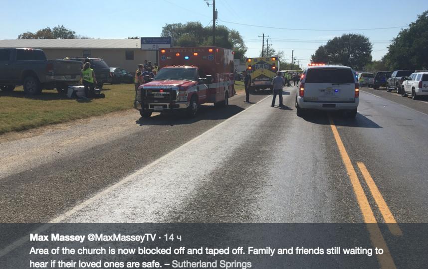 Стрельба в церкви Техаса: полиция раскрыла подробности. Фото Скриншот twitter.com/maxmasseytv