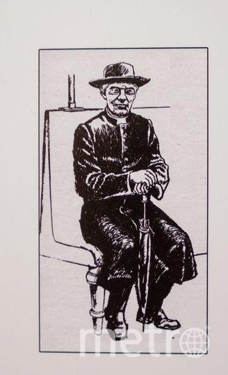 Рисунок «Ленин в костюме финского пастора» из журнала Uusi Kuvalehti, 1950-е годы. Выполнен по рассказам очевидцев | из архива музея.
