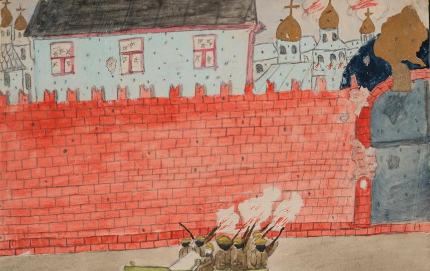 """""""Обстрел Кремля"""". Фото Государственный исторический музей"""