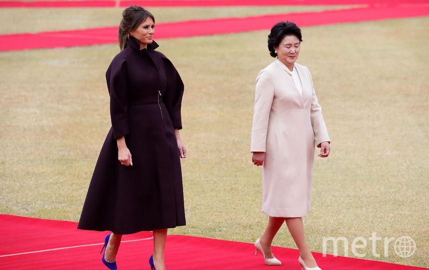 Мелания Трамп с супругой президента Кореи Ким Джонсук. Фото Getty