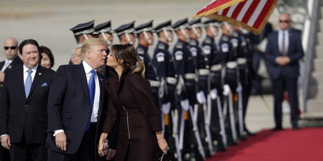 Дональд и Мелания Трамп в Южной Корее.