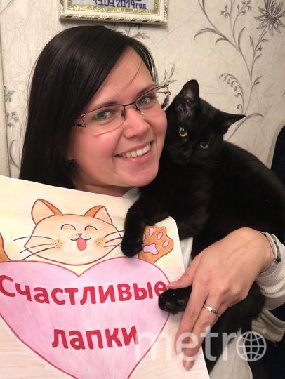 Селфи с котиком. Имя четверолапого друга: Чирик. Фото Надежда Желнина