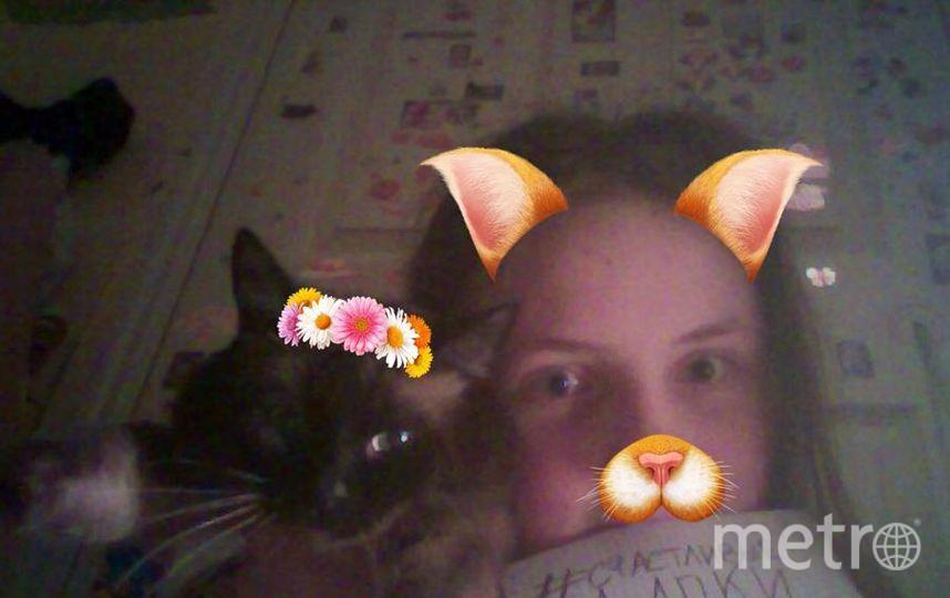 Селфи с котиком. Маркова Виктория и кошка Мэри.