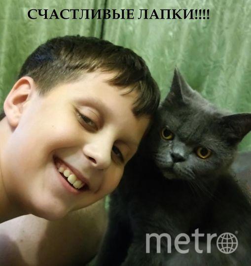 Селфи с котиком. Кот Маркиз и мой сын Кирилл. Фото Матвеева Анна Александровна