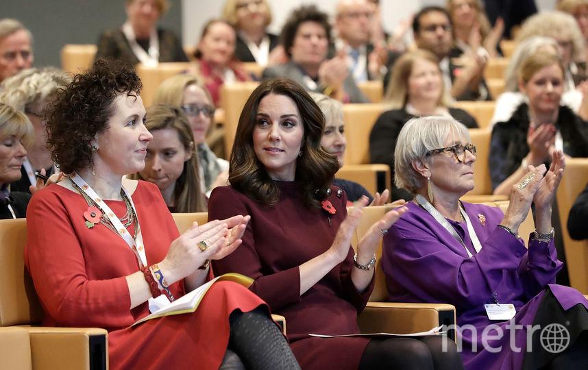 Герцогиня Кэтрин на форуме в Лондоне. Фото Getty