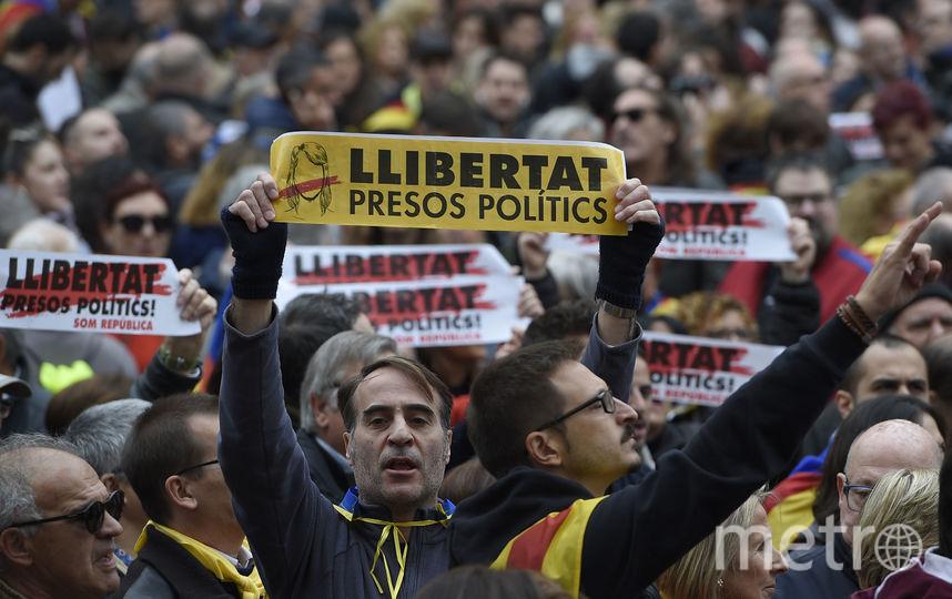 Демонстрация в Каталонии. Фото AFP