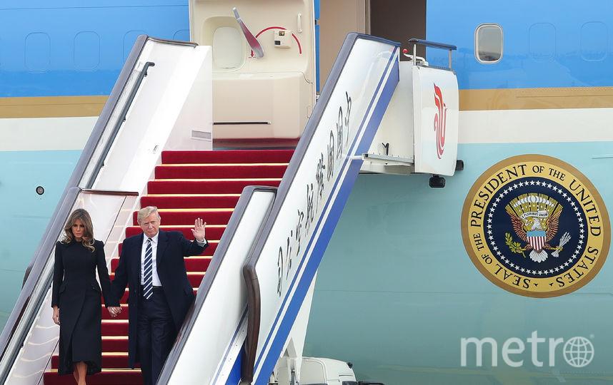 Дональд и Мелания Трамп прилетели в Китай. Фото Getty