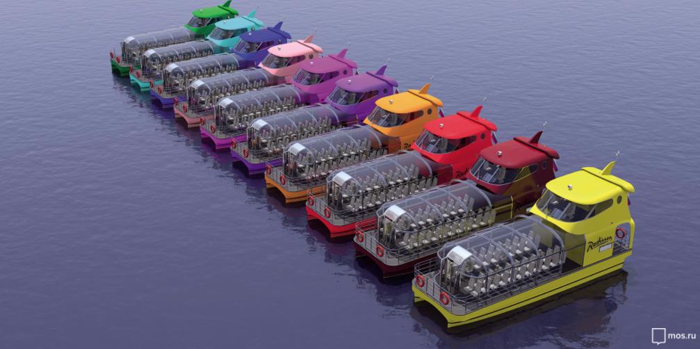 Десять речных кабриолетов запустят по Москве-реке к ЧМ-2018. Фото mos.ru