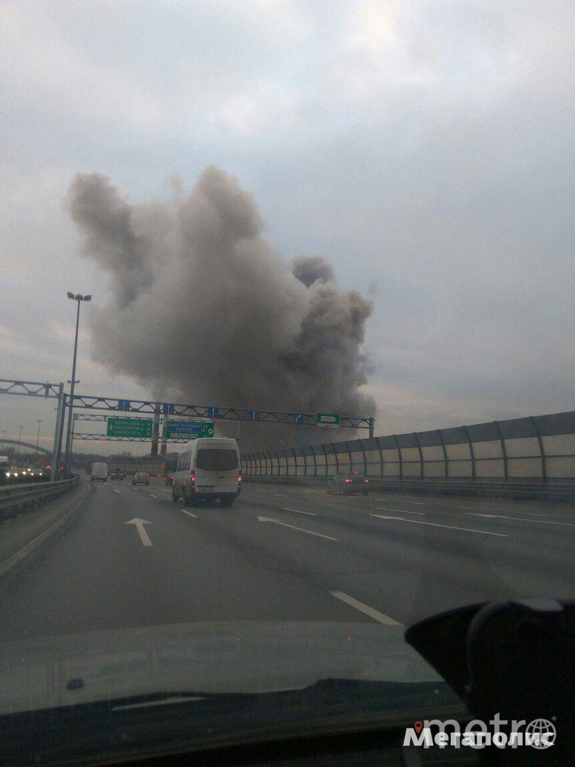 Пожар в Мурино. Фото megapolisonline.ru / Мегаполис