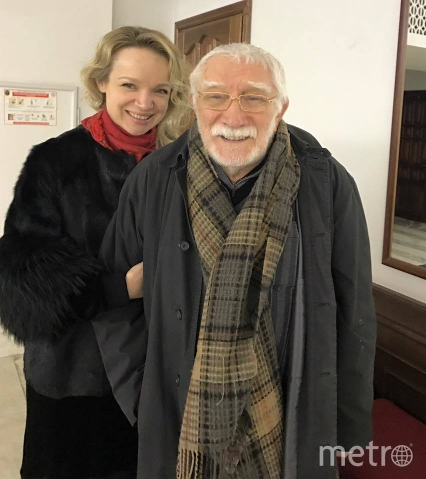 Армен Джигарханян и Виталина Цымбалюк-Романовская. Фото https://www.facebook.com/vitalina.romanovskaya?fref=mentions