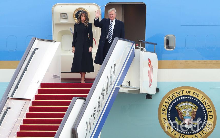 Во время прибытия в Китай 8 ноября. Фото Getty