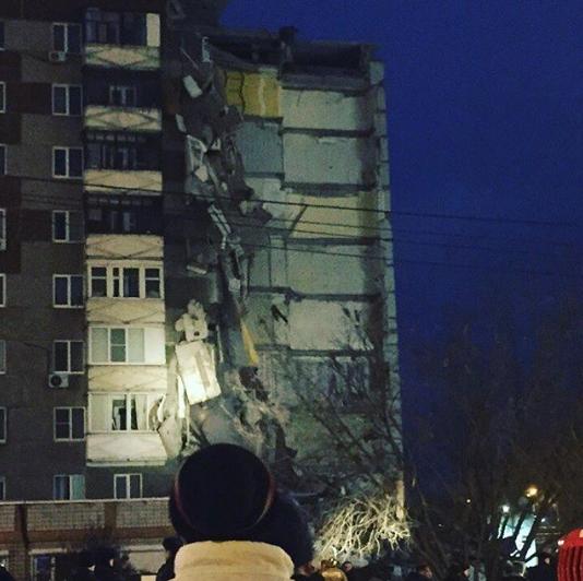 Обрушение дома в Ижевске. Фото Instagram/yurkin333