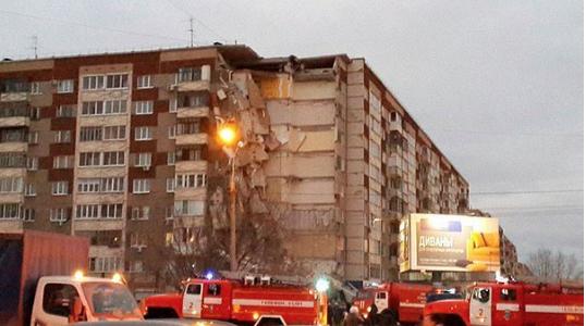 Обрушение дома в Ижевске. Фото Instagram/bashargina_ula