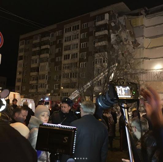 Обрушение дома в Ижевске. Фото Instagram/vostrukhin