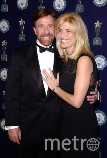 Чак Норрис и его жена - Джина О'Келли. Фото Getty