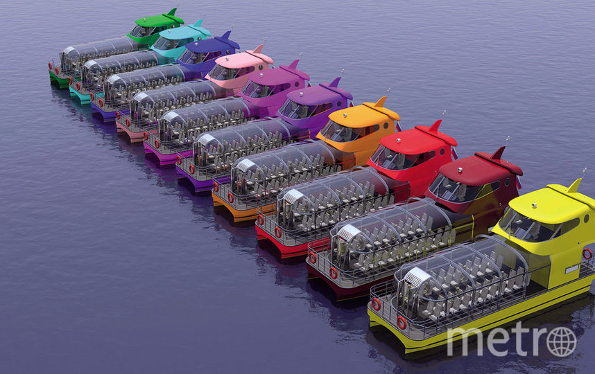 Все речные кабриолеты будут представлены в цветах радуги, а также в розовом, сиреневом и бордовом оттенках. Фото mos.ru
