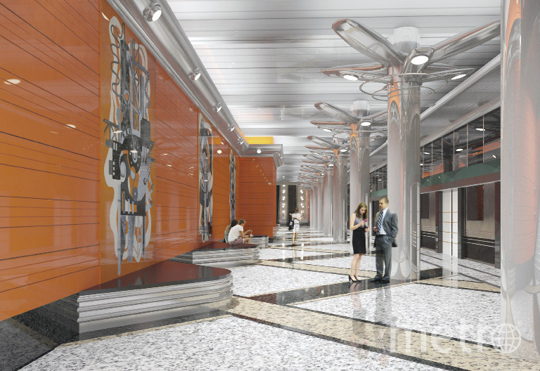 """Станция метро """"Беговая""""."""