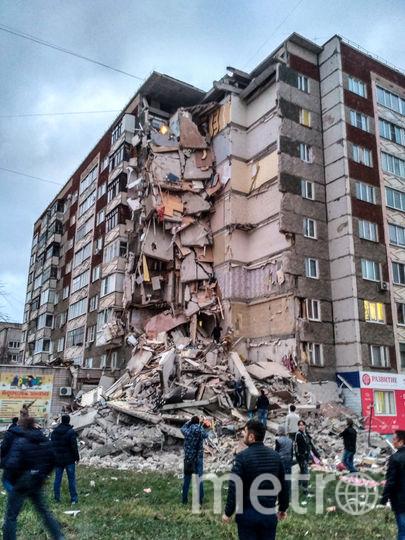 Обрушение подъезда девятиэтажки в Ижевске. Фото AFP