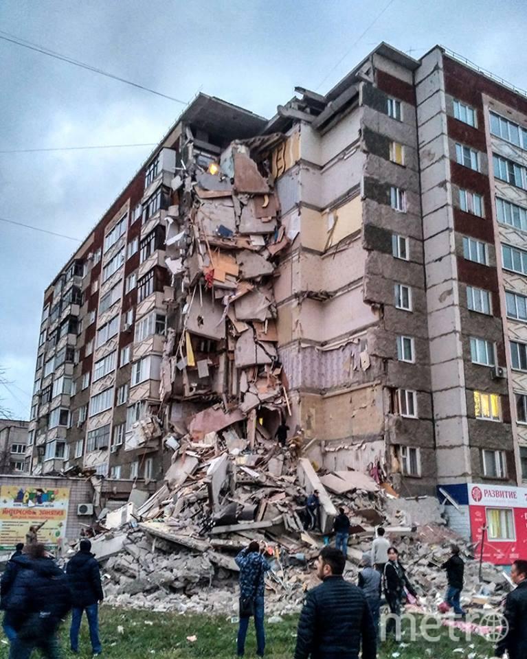 Обрушившийся дом. Фото https://www.facebook.com/franc.engel